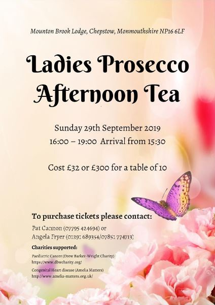 Ladies Prosecco Afternoon Tea 29th September