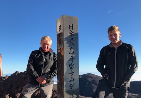 Mount Fuji fundraising climb